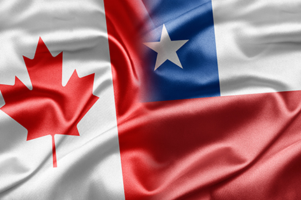 Canada and Chile flags