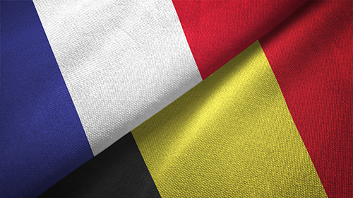 Belgium and France flags together