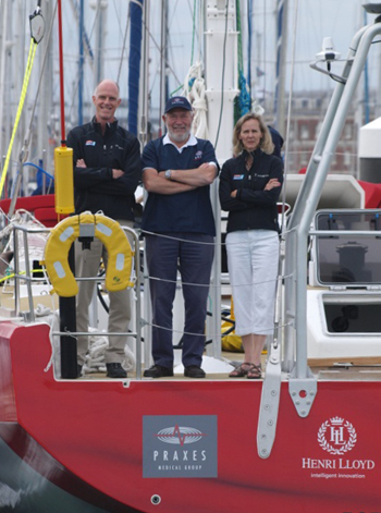 Susan Helliwell, Dr. John Ross and Sir Robin Knox Johnson