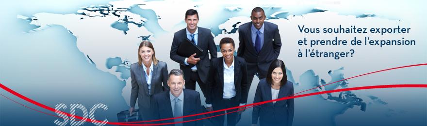 Vous souhaitez exporter at prendre de l'expansion à l'étranger.