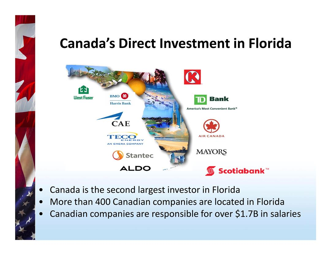 Canada Direct Investment Numbers in Florida Poster